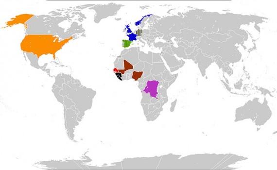 ébola regiones afectadas